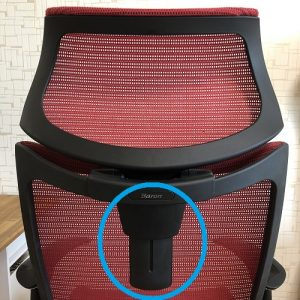 バロンチェア可動式ヘッドレスト 調整機構