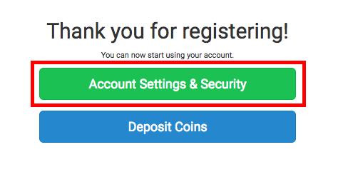 coinexchange セキュリティセッティング