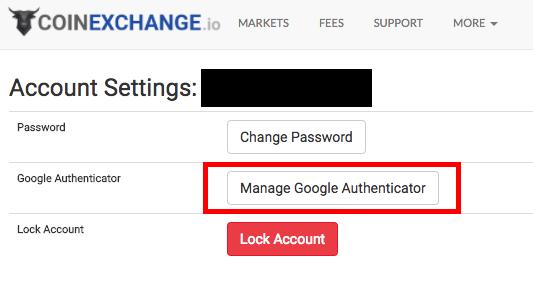 google二段認証coinexchange
